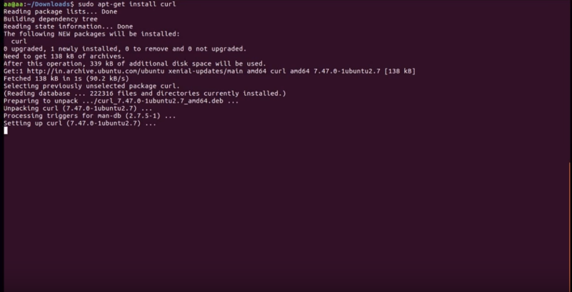 How to Install Curl in Ubuntu 16 04 or 18 04 LTS (Command